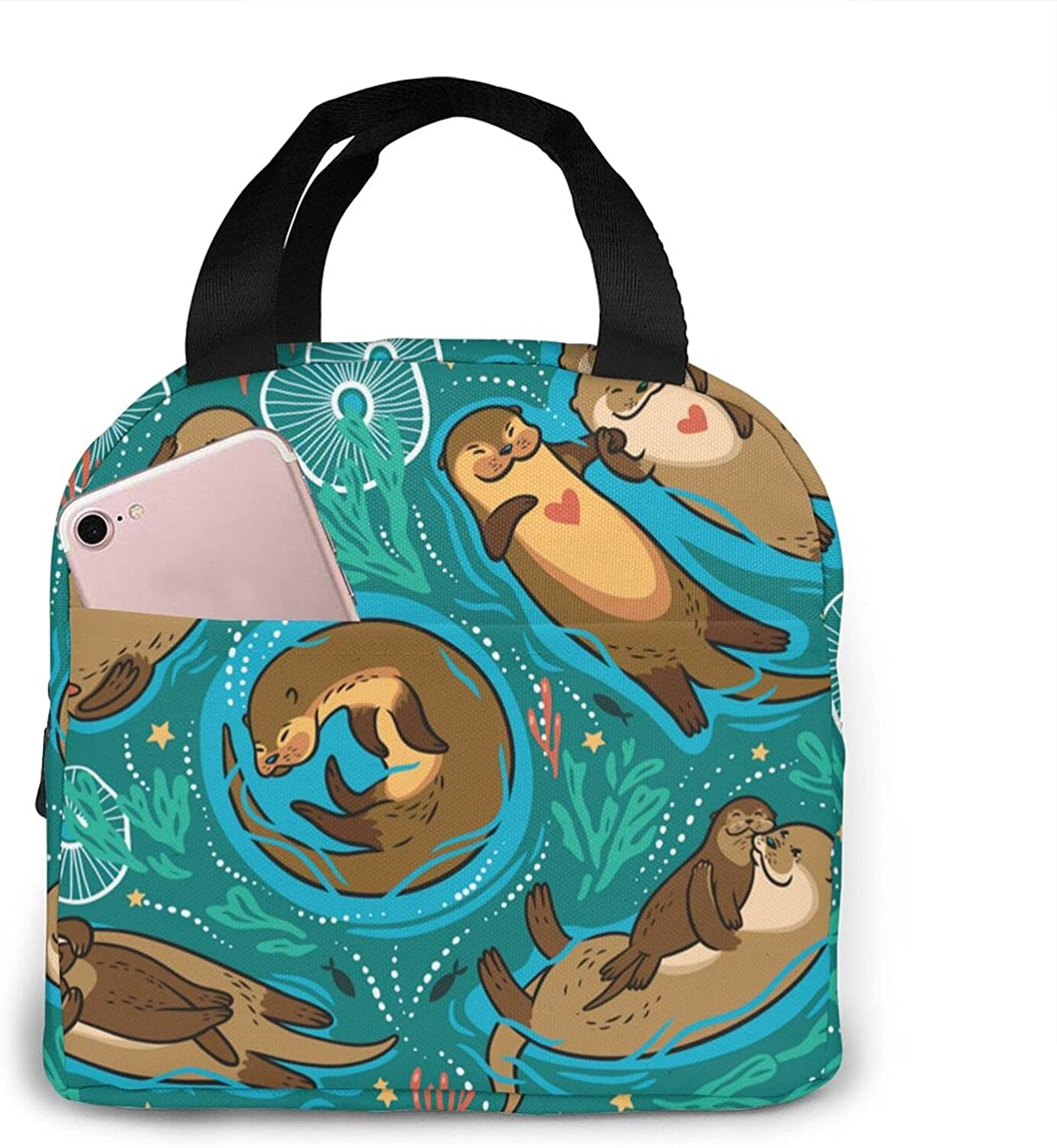 NAOINGEI Max 82% OFF Cute Lovely Otters0 Reusable Cooler Insulated Free Shipping New Bag Lunch