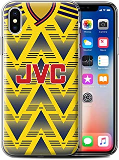 Gel TPU Phone Case/Cover for Apple iPhone Xs/Arsenal 1991 Away Design/Retro Soccer Jersey/Shirt Division 1 Collection