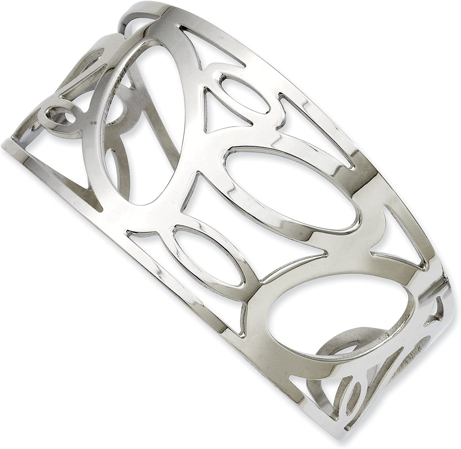 Stainless Steel Ovals Cuff Bangle