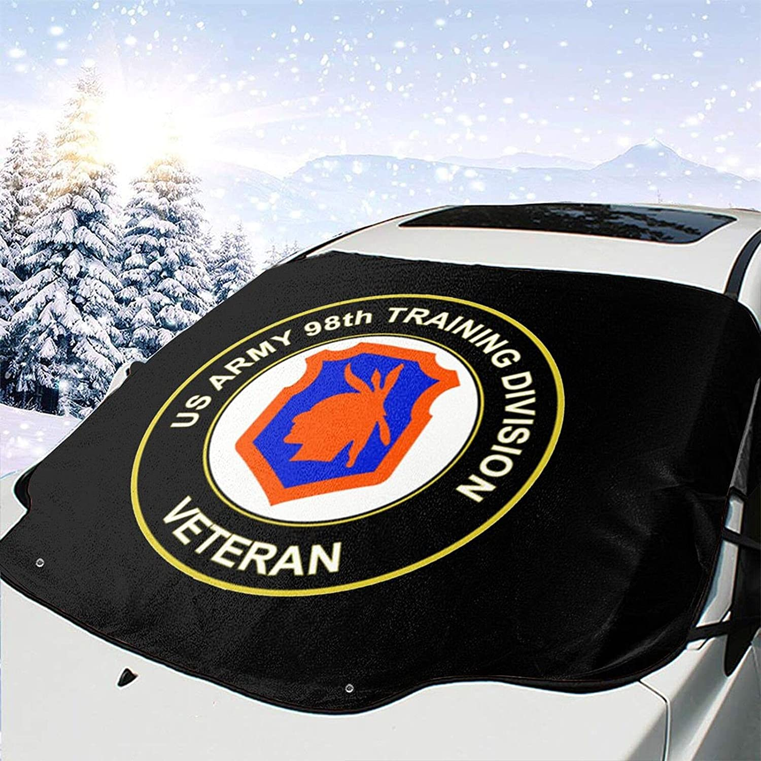 Us Army Veteran 98th Training Division Windshield Snow Indefinitely Ice Cover Elegant