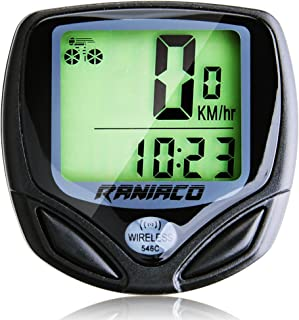 Bike Computer, Raniaco Original Wireless Bicycle Speedometer, Bike Odometer Cycling Multi Function- Premium Product Package, Gifts for Bikers/Men/Women/Teens