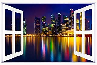 marina_bay_singapore_ wallpaper wall stickers wall murals quote printing art vinyl decal sticker