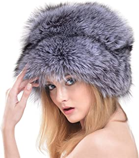 Hats Mongolian Hat Autumn and Winter Fashion Fiber Hat Warm Big Round Hat Fashion (Color : Silver)