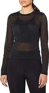 PUMA Women's Evide Long Sleeve Mesh Top T-Shirt