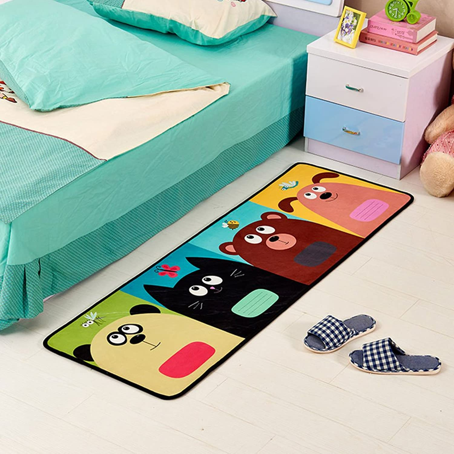 SUN-Shine Durable Home and Kitchen Rug Runners with Non-Slip Rubber Backing Indoor Doormats Floor Mat Carpet, Cute Pets Animal