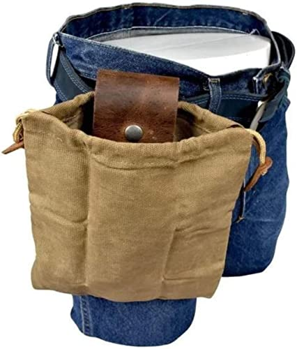 2021 OPTIMISTIC Outdoor Foraging Bag for Men Leather Waxed Canvas Belt Pouch Bag Vintage Collapsible Foraging sale Pouch for Camping, Beach Combing, Gathering and Exploring Snaps On/Off sale Belt Pouch online sale