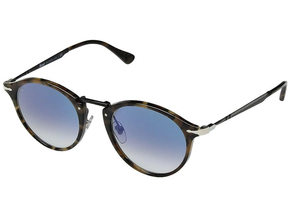 Persol 0PO3166S (Gunmetal/Clear Gradient Blue) Fashion Sunglasses