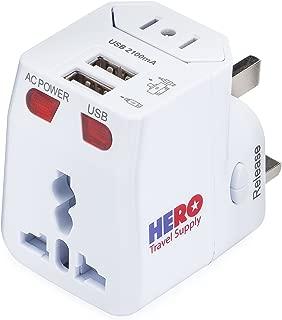 Power Adapters by Hero Travel Supply Universal Adapter (1 Pack) White