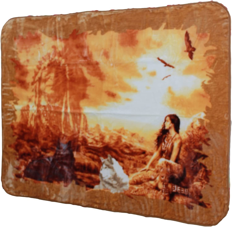 YSN Home Collection 1703 - Wolldecke Decke Kuscheldecke Kuscheldecke Kuscheldecke Tagesdecke Indianer, Single oder 2-Personen - 205x230 cm USA Amerika Native Americans B00N8UQ9ZO a53844