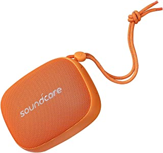 Soundcore Icon Mini by Anker, Waterproof Bluetooth Speaker with Explosive Sound, IP67 Water Resistance for Hiking, Cycling, Playing, and Exploring, Pocket Size, 8-Hour Playtime, and Built-in Mic (Orange)