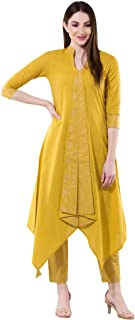 Khushal K Women's Cotton Kurta With Palazzo Pant Set