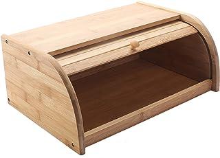 uyoyous ブレッドケース パン箱 パン保存ケース 収納ボックス 竹製 40*27*16.5cm アクセサリー ナチュラル