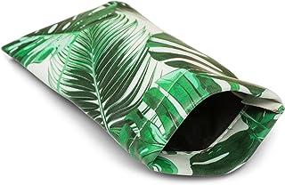 styleBREAKER Étui pour lunettes de soleil avec imprimé palmiers et chiffon de nettoyage, étui avec fermeture à cliquet, un...