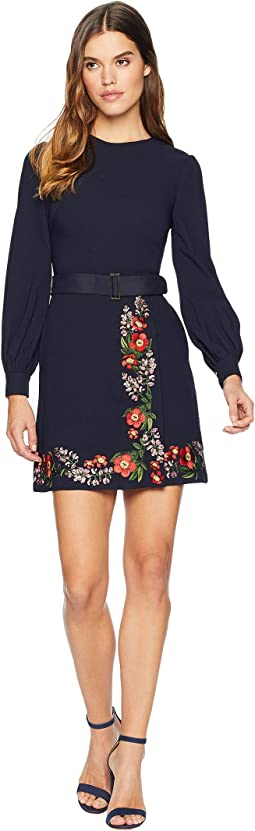 Siliia Kirstenbosch Embroidered Wrap Dress