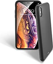 UNBREAKcable iPhone X Case, iPhone XS Case – Soft Frosted TPU Ultra-Slim Stylish Protective Cover for 5.8-inches iPhone X and iPhone XS [Drop Protection, Non-slip] – Black