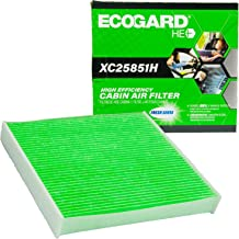 EcoGard XC25851H High Efficiency Premium Cabin Air Filter + Baking Soda Fits Toyota Camry, Corolla, RAV4, Highlander, Tundra, Sienna, Prius, 4Runner | Subaru Outback, Legacy | Lexus ES350, RX350