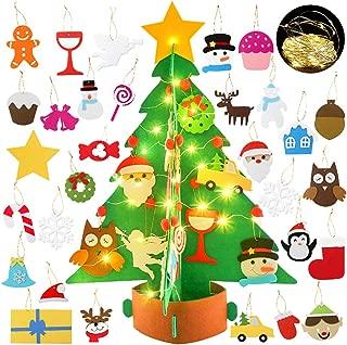 Bageek árbol de navidad de fieltro diy,3D Árbol de Navidad