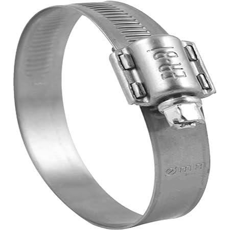 25 St/ück Schlauchschellen Edelstahl V2A W4 DIN 3017 Bandbreite 9 mm Spannbereich 25-40 mm