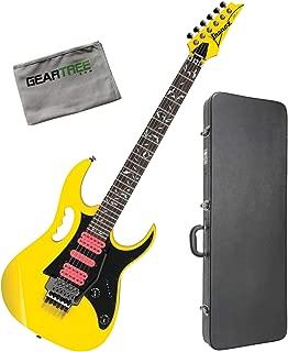 Ibanez JEMJRSPYE Steve Vai Signature Yellow Electric Guitar w/Hard Case and Clot