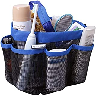 Quick Dry Mesh Shower Caddy, Hanging Shower Tote Bag Toiletry Bath Organizer Makeup Comestic Storage Bag Basket with 11 Storage Pockets for Home Gym Travel Dorm Bathroom Washing Bag Case with Handle …
