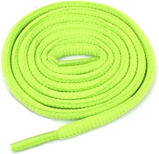 Oval Athletic Shoelaces 1/4 Thick Solid Colors for All Shoes Several Lengths