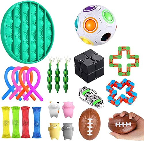 Fidget Sensory Toy Set, 22Er Pack Fidget Sensory Jouet Set, Ensentilation De Contrainte TOYSET, TOYS DE SRUCTION PREM...