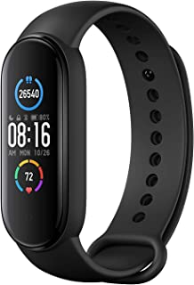 Xiaomi Band 5 Smart Fitness Bracelet Heart Rate Monitor,Sports Waterproof Wristband,2020 Latest Bluetooth 5.0 Color AMOLED Screen, Black,Mi band 5,black