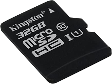 Kingston SDCS/32 GBSP MicroSD Canvas Select Class 10 UHS-I Speeds Up to 80 MB/s Read (Card Only) - Bring Your HD Videos to Life