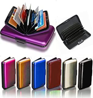 Goldenvalueable Extra Thick Aluminum Aluma Hard Case Credit Cards Wallet (Assorted 6 Pack)