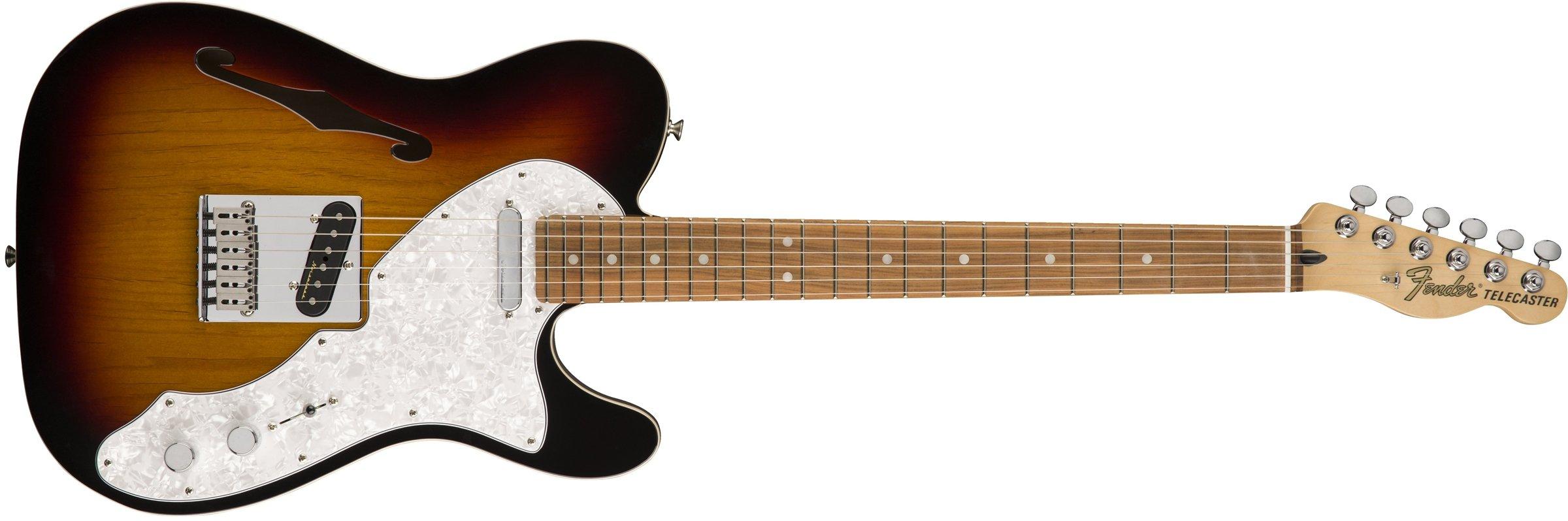 Cheap Fender Deluxe Telecaster Thinline Electric Guitar - Pau Ferro Fingerboard - 3-Color Sunburst Black Friday & Cyber Monday 2019