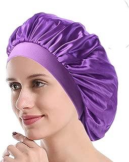 Night Bonnet Sleep Cap Wide Band Satin Bonnet Cap for Women, Satin Sleeping Hat Cover Beanie for Long Hair Loss,Hair Beauty
