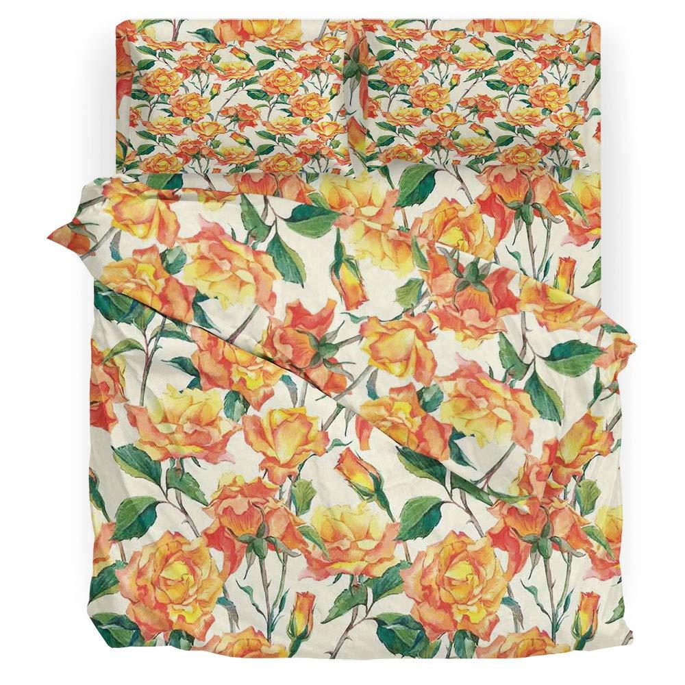 iprint Roses Decorations Win Juego de sábanas con