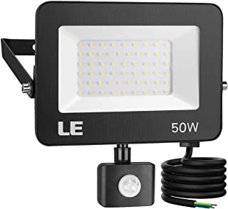 LE 50W Foco LED Exterior con Sensor Movimiento PIR, 5000