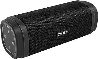 Bluetooth Lautsprecher, Zamkol Tragbarer Speaker Bluetooth 5.0 mit 15 Stunden Akku, 30 Watt Stereo Sound, Musikbox mit Wasserfester, Kabelloser Portable Boombox für Outdoor