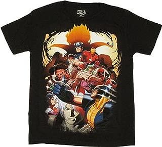 vs Capcom 3 Huge Group Mens T-Shirt Black