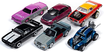 Street Freaks 2019 Release 3, Set B of 6 Cars 1/64 Diecast Models by Johnny Lightning JLSF014 B