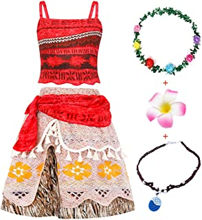 Details about  /Small Adult Moana Costume 3 piece set.