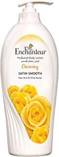 Enchanteur Satin Smooth- Charming Lotion with Aloe Vera & Olive Butter for Satin Smooth Skin, for all skin types, 500ml