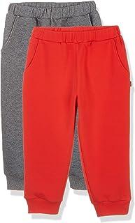 Kid Nation Kids 2 Packs Interlock Causal Capri Pants with Pockets,Age(4-12Years)