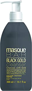 masque BAR Black Gold Cleanser with 24k Gold, Charcoal Powder, and Bamboo - Enriched Cleanser to Refine Pores and Brighten Skin - Made in Korea, 10.1 Fl Oz