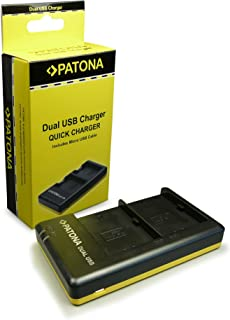 PATONA Cargador Doble para LP-E6 Bateria Compatible con Canon EOS 7D 6D 5D Mark II III IV