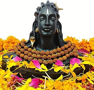 11Delights Adiyogi Shiva Statue with Rudraksha Mala & Double-sided tape. Ideal for Car Dashboard, Home Decor, Pooja & Gift...