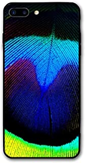 iPhone 8 Plus Case,Peacock Wallpapers Printed Hard PC Back Case with TPU Bumper Protective Case Cover