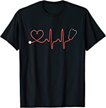 Nurse Stethoscope T Shirt RN Heart Beat Stethoscope Shirt