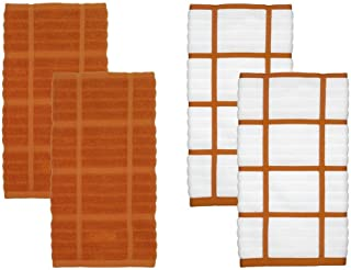 All-Clad Textiles 100 Percent Combed Cotton Soft and Durable 4 Piece Woven Solid Kitchen Towel