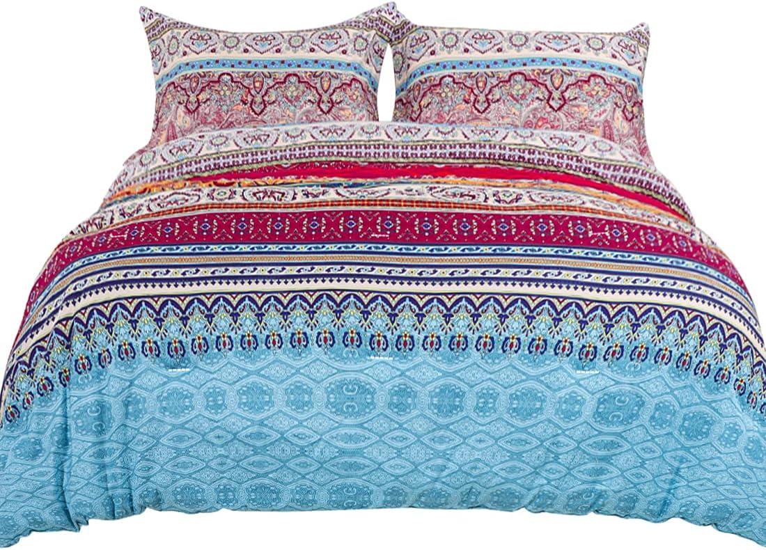 PiccoCasa Special sale item 3-Piece Luxury Bohemian Comforter Set Alt OFFer Bedding Down