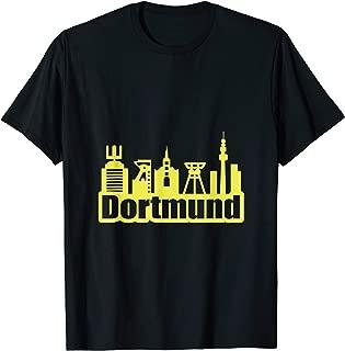 Dortmund Shirt Soccer Jersey Yellow Skyline T-Shirt