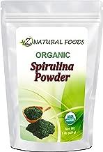 Organic Spirulina Powder - Amazing Blue Green Algae Superfood - Rich In Amino Acids, Vitamins, & MInerals - Mix In Drinks, Smoothies, Shakes, & Recipes - Raw, Vegan, Non GMO, Gluten Free - 1 lb