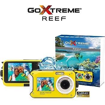 Easypix Goxtreme Reef 24Mp Full HD 130G Fotocamera per Sport d'Azione, Giallo