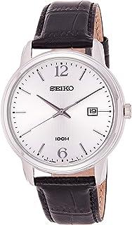 SEIKO Men's Quartz Watch, Analog Display and Leather Strap SUR265P1